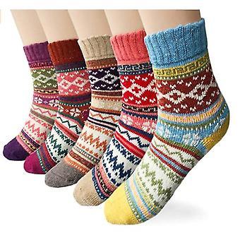 5-p en bas d'hiver tricotés pour les femmes, une taille