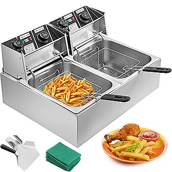 Stainless Steel Deep Fat Fryer Cold Zone Bench Top
