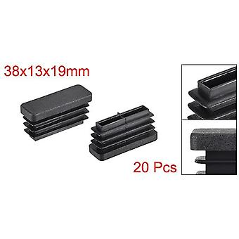 10/20pcs  Rectangle Pp Steel Pipe Tube Cover (38x13-80x20mm)