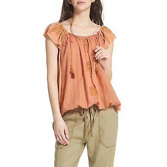 Free People | Embroidered Peasant Top