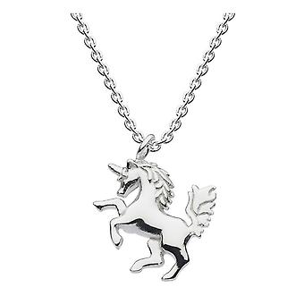 Dew Sterling Silver Dinky Mythical Unicorn 18 Necklace 9669HP024