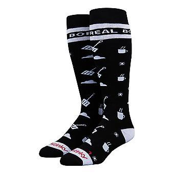 Stinky Socks Boreal Mountain Socks - Black / White