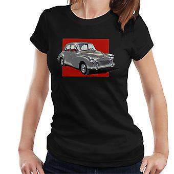 Morris Minor Red Background British Motor Heritage Women's T-Shirt