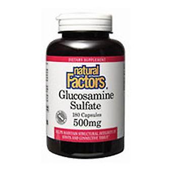 """גורמים טבעיים גלוקוסאמין גופרתי, 500 מ""""ג, 360 כמוסות"""