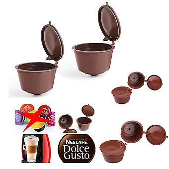 Cafe Reusable Coffee Capsule For All Nescafe Dolce Gusto Models Refillable Filters Baskets
