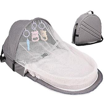 Portable Baby Bed For Newborn Foldable Crib Travel Sun Protection Mosquito Net