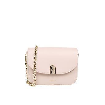 Furla Baonacoare000b4l00 Women's Pink Leather Shoulder Bag