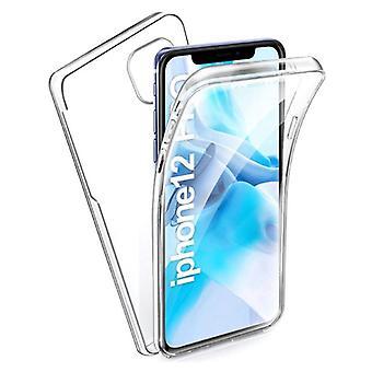 الاشياء المعتمدة® اي فون 12 برو ماكس كامل الجسم 360 ° شفافة TPU سيليكون حالة + PET شاشة حامي