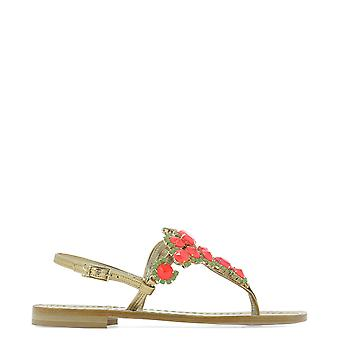 Emanuela Caruso J23bfucsia Women's Red Leather Flip Flops