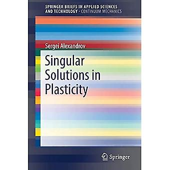 Singular Solutions in Plasticity (SpringerBriefs in Applied Sciences and Technology)