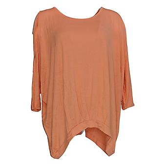 DG2 por Diane Gilman Women's Top Orange Split Shoulder Rayon 677-912
