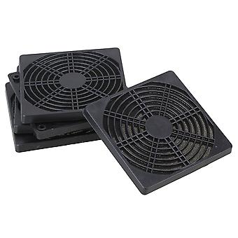 5pcs Standard 120mm PC Cooling Fan Dustproof Anti Dust Black Plastic Filter Mesh
