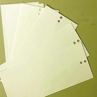 10 Small Pocket Inserts Silk 2 drilled holes for Pale Ivory range