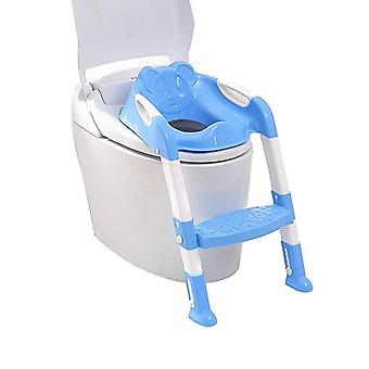 Folding Potty / Toilet Training Seat With Adjustable Ladder