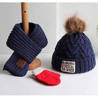 Children's Sweater Cap For And, Muffler Gloves For Babies With A Thick Warm