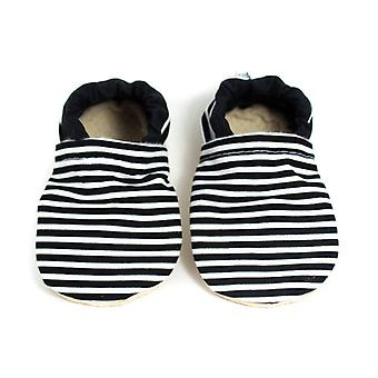 Black And White Stripe Yeti Moccs