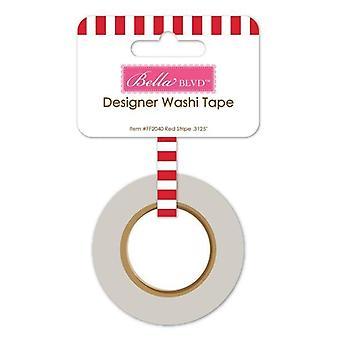 Bella BLVD Red Stripe Washi Tape