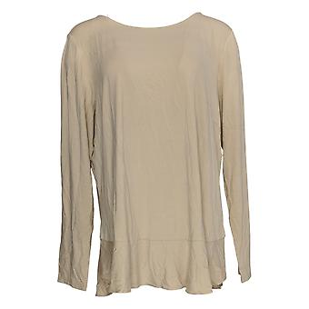 Linea Door Louis Dell'Olio Women's Top Long Sleeve Beige A302559