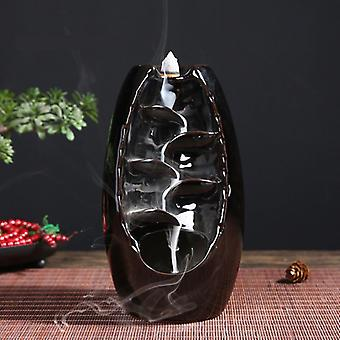Minideal Aromatherapy Koriste suitsukkeen poltin Vesiputous Takaisinvirtaus - Takaisinvirtaus Suitsukkeen poltin Feng Shui Sisustus Koriste Musta