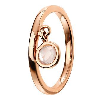 Elemente Silber - Frauen Runde Quarz Ring