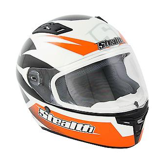 Stealth HD117 GP Replica Adult Full Face Helmet - Orange