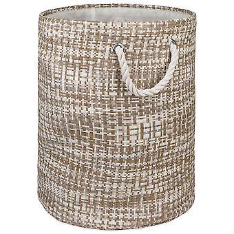 Dii Paper Bin Tweed Stone Round Large