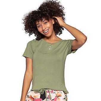 Cyberjammies Natalie 4809 Women's Green Modal Pyjama Top