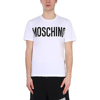Moschino 072920391001 Heren's White Cotton T-shirt