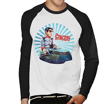 Stingray Commander Sam Shore In Hoverchair Men's Baseball Long Sleeved T-Shirt