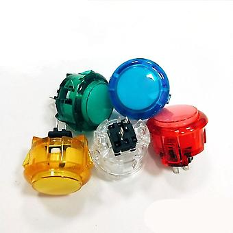 10pcs Transparent No Led Arcade 30mm Push Button Replace Sanwa For Diy