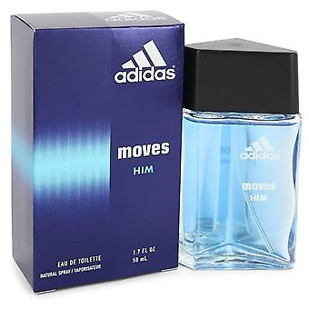 Adidas flytter Eau De Toilette Spray af Adidas 1,7 oz Eau De Toilette Spray