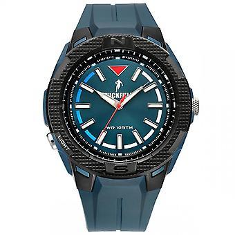 Watch Ruckfield 685087 - Analog Watch Bo tier Silicone Blue Plastic Bracelet Fonc Blue Dial Men