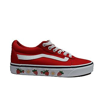Vans WM Ward Strawberry SDWLL Canvas Womens Lace Up Sneakers