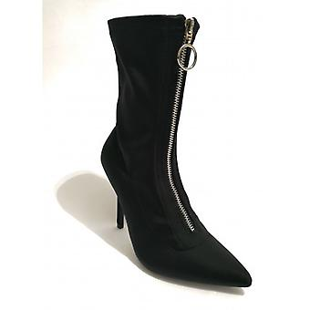 Gold&gold Ankle Boot A Sock Fabric Stretch Tc 90 Black Woman D19gg27