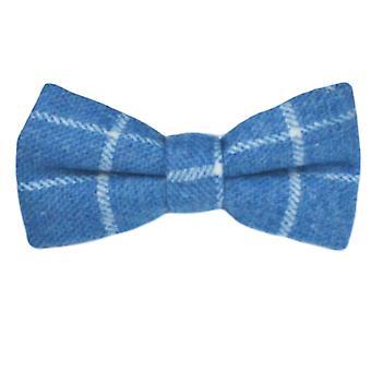 Papillon a birdseye blu azzurro e Set quadrato tascabile