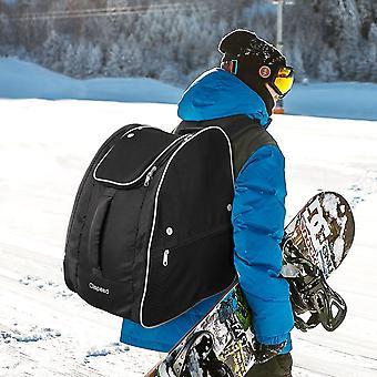 Sac de chaussures de ski, sac à dos d'équipement de voyage avec bandes réfléchissantes pour le ski et