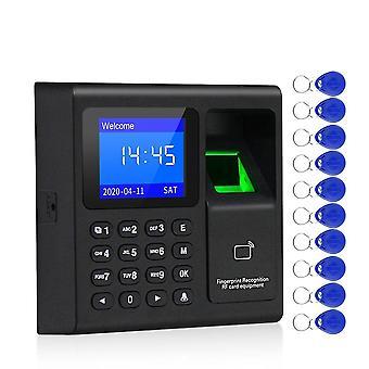 Empreinte biométrique, présence de temps et enregistreur d'horloge, employé d'appareil