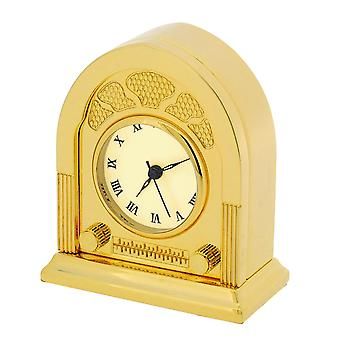 GTP Unisex Fifties Style Radio Goldtone Plated on Solid Brass Novelty Desktop Collectors Miniature Clock IMP43