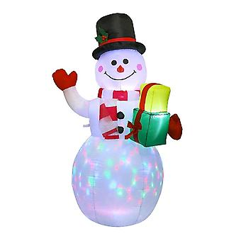Christmas Lighted Inflatable Snowman Doll