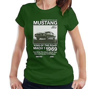 フォードザニュースポーツカー マスタングウーマン&アポ;s Tシャツ