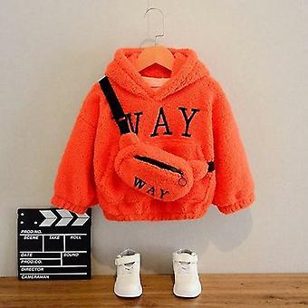 Sweatshirts mit Tasche Winter Wolle dick Kapuze n