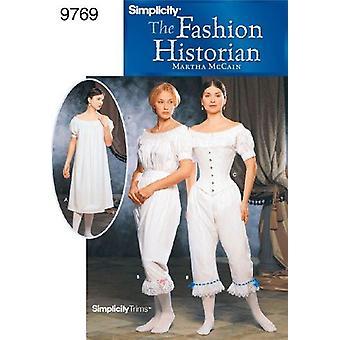 بساطة نمط الخياطة 9769 يخطئ الملابس الداخلية الأزياء حجم 6-12 HH