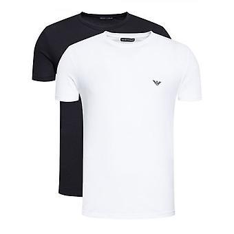 Emporio Armani Loungewear Off-White 2-Pack Crew Neck T-Shirt