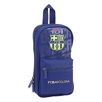 Backpack Pencil Case F.C. Barcelona Blue (33 Pieces)