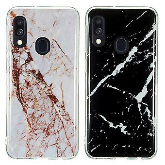 Samsung Galaxy A40 - Shell / Schutz / Marmor