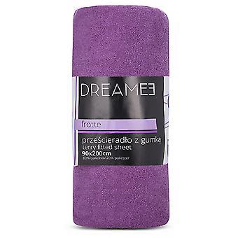 spanbed sheets Terry 90 x 200 cm cotton purple