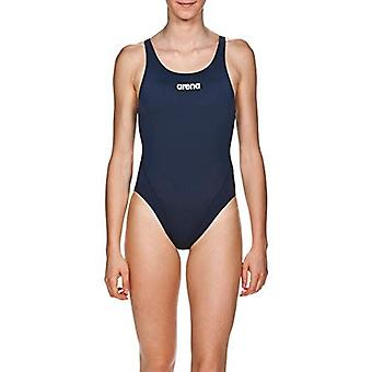 Arena Solid Swim Tech High Swimsuit Womens Open Back Athletic Swimming Costume