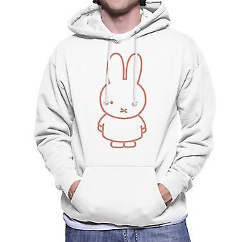 Miffy Rød Outline Mænd 's Hætteklædte Sweatshirt