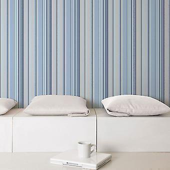 Global Fusion GF Stripe Wallpaper Blue G56407