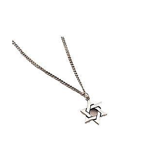 S925 collana d'argento classico regalo festa della mamma per le donne stella a sei punte